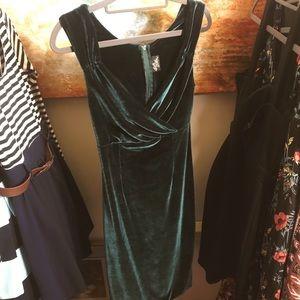"""ModCloth """"Lady Love Song"""" Dress in Green Velvet"""